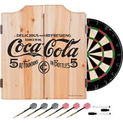 Coca Cola Dart Cabinet Set with Darts and Board - 5 Cents Black (190836399413)