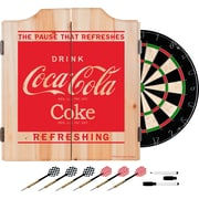 Coca Cola Dart Cabinet Set with Darts and Board - Refreshing (190836399468)
