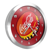 Coca Cola 12 Inch Brushed Aluminum Wall Clock - Pop Art (190836399307)