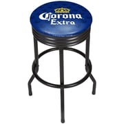 Corona Black Ribbed Bar Stool - Griffin (190836246557)