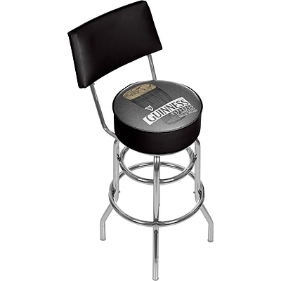 Guinness Swivel Bar Stool with Back - Line Art Pint (190836335053)