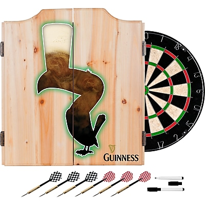 Guinness Dart Cabinet Set with Darts and Board - Feathering (190836335312)
