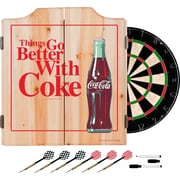 Coca Cola Dart Cabinet Set with Darts and Board - Better with Coke (190836399444)