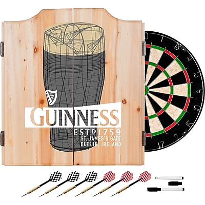 Guinness Dart Cabinet Set with Darts and Board - Line Art Pint (190836335299)
