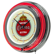 Corona Chrome Double Rung Neon Clock - Vintage (190836246465)