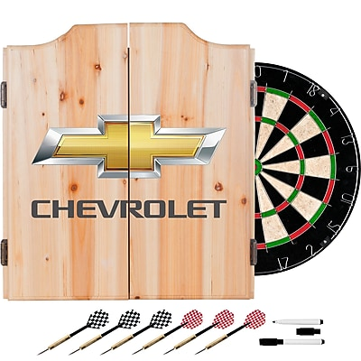 Chevrolet Dart Board Set with Cabinet (190836246786)