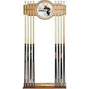 Guinness Stained Wood Cue Rack with Mirror - Feathering