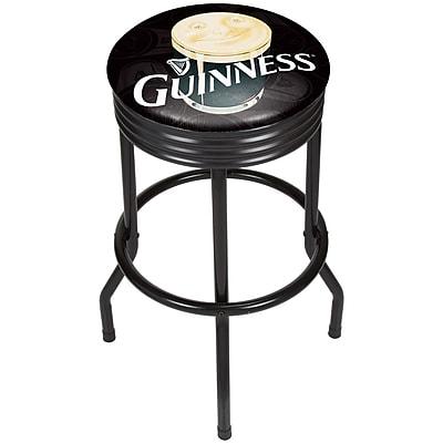 Guinness Black Ribbed Bar Stool - Smiling Pint (190836335008)
