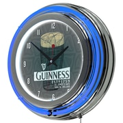 Guinness Chrome Double Rung Neon Clock - Line Art Pint (190836335107)