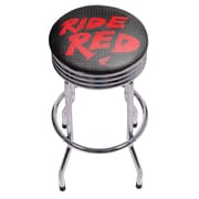Honda Chrome Ribbed Bar Stool - Ride Red (190836399239)