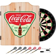 Coca Cola Dart Cabinet Set with Darts and Board - Ice Cold (190836399499)