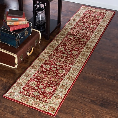 Lavish Home Vintage Flowered Rug - Red - 1'8