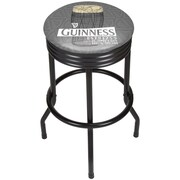 Guinness Black Ribbed Bar Stool - Line Art Pint (190836335015)