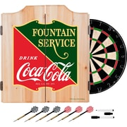 Coca Cola Dart Cabinet Set with Darts and Board - Fountain Service (190836399475)