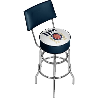 Miller Lite Swivel Bar Stool with Back - Retro (190836399185)