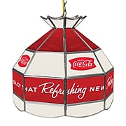 Coca Cola 16 Inch Stained Tiffany Lamp - Arc