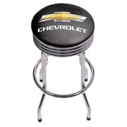 Chevrolet Chrome Ribbed Bar Stool (190836246748)