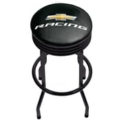Chevrolet Black Ribbed Bar Stool - Chevy Racing (190836246687)