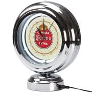 Corona Chrome Retro Style Tabletop Neon Clock - Vintage (190836246472)