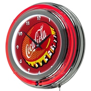 Coca Cola Chrome Double Rung Neon Clock - Pop Art (190836399314)