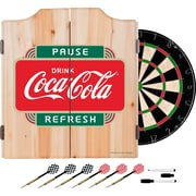 Coca Cola Dart Cabinet Set with Darts and Board - Pause Refresh (190836399505)