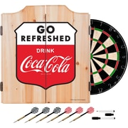 Coca Cola Dart Cabinet Set with Darts and Board - Go Refreshed (190836399482)