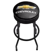 Chevrolet Black Ribbed Bar Stool (190836246755)