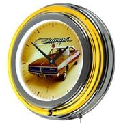 Dodge Chrome Double Rung Neon Clock - 69 Charger (886511980594)