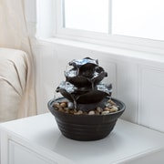 Pure Garden Three Tier Cascading Tabletop Fountain with LED Lights (886511984400)