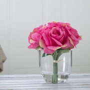 Pure Garden Rose Floral Arrangement with Glass Vase - Pink (886511984349)
