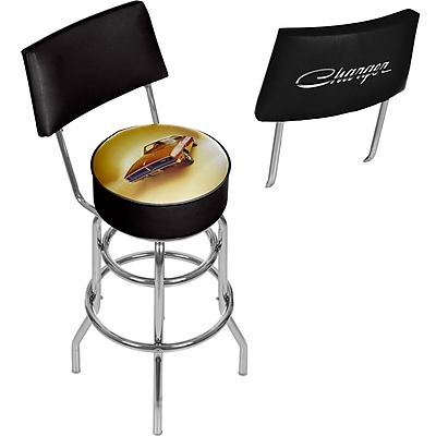 Dodge Bar Swivel Bar Stool with Back - 69 Charger (886511980501)