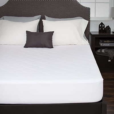Bluestone Down Alternative Cotton Mattress Pad With Fitted Skirt-King (886511974999)