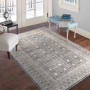 "Lavish Home Vintage Greek Rug - Grey Brown - 5' x 7'7"" (886511973237)"