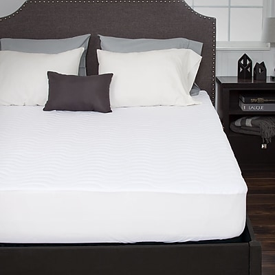 Bluestone Down Alternative Mattress Pad With Fitted Skirt-Queen (886511974883)