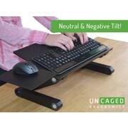 Uncaged Ergonomics WorkEZ Keyboard Tray Adjustable Height Stand Silver (WEKTs)