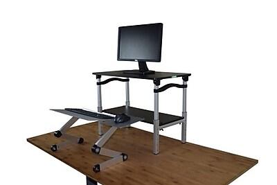 Uncaged Ergnonomics LIFT Standing Desk Black and Silver (LSDbs)