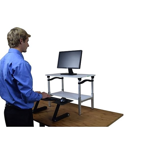 Uncaged Ergnonomics LIFT Standing Desk White and black (LSDwb)