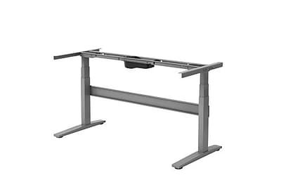Uncaged Ergonomics Rise Up Electric Adjustable Height Desk Frame Gray (Rug)