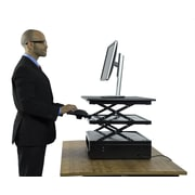 Uncaged Ergonomics Electric CHANGEdesk Adjustable Height Standing Desk Conversion, Black (CDE)
