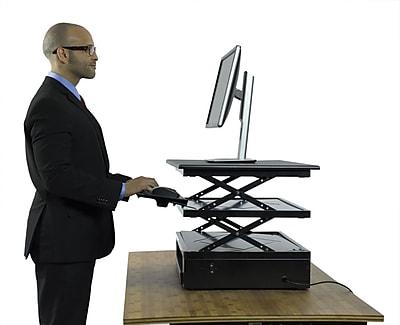 Uncaged Ergonomics Electric CHANGEdesk Adjustable Height Standing Desk Conversion, Black (CDE)