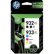 HP 932XL/933XL Black/Color Ink Cartridges, High Yield, 5/Pack (N9H69FN#140)