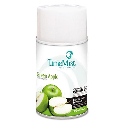 TimeMist® Air Freshener Refill, Green Apple, 5.3 oz., 12/Case