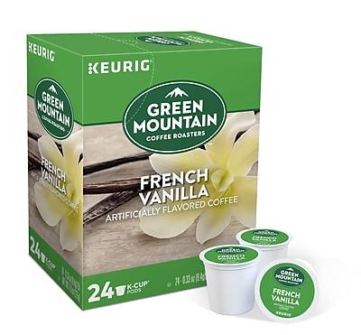 Green Mountain Coffee Roasters French Vanilla Coffee, Keurig® K-Cup® Pods, Light Roast, 24/Box (6732)