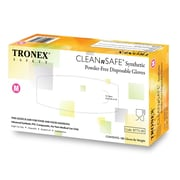 "Tronex ""CLEANnSAFE®"" Synthetic Gloves, Latex Free, Natural, Disposable Glove, Medium (8775-20)"