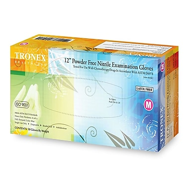 Tronex Nitrile Extra-Thick Chemo-Rated Powder-Free, Blue, Examination Gloves, Large (9662-30)