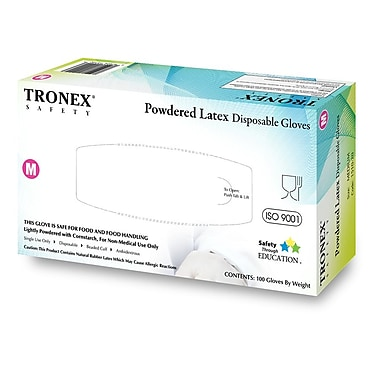 Tronex Latex Gloves, Powdered, Natural, Disposable Gloves, Extra Large (1510-35)