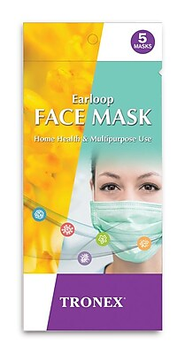 Tronex Face Mask, Procedure Face Mask With Earloops, Unisize, Case (RP5085)