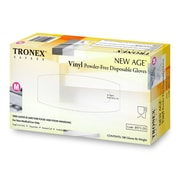 "Tronex Vinyl ""New Age®"" Gloves, Latex Free, Natural, Disposable Gloves, Medium (8973-20)"