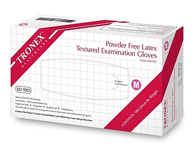 Tronex Latex Gloves, Powder-Free, Natural, Examination Glove, Small (3110-10)