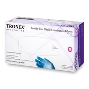 Tronex Nitrile Powder-Free Fingertip-Textured, Blue, Examination Gloves, Large (9250-30)